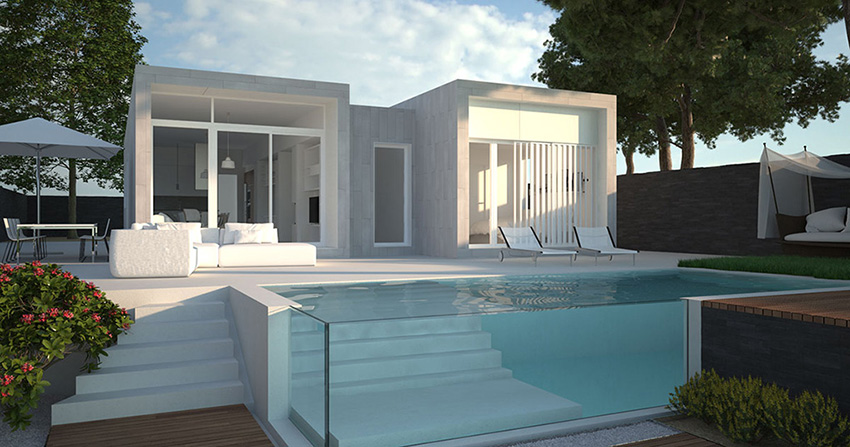 las casas prefabricadas modernas