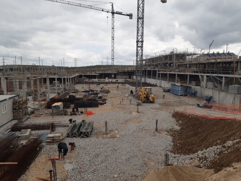 Situación obras promoción  Suertes de la Villa Marzo 2020