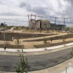 Terminado el ajardinamiento del bulevar de la calle Suertes de la Villa en el Cañaveral